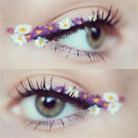 Eyeliner Flower flower eye makeup image 2647176 by maria d on favim