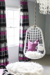 Pink Armchair Design Ideas Striped Curtains Contemporary S Room B Metro