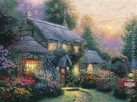 kinkade cottage painting kinkade julianne s cottage painting