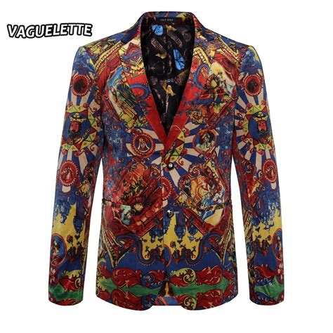 colorful blazers luxury mens printed blazers performance wedding mens stage