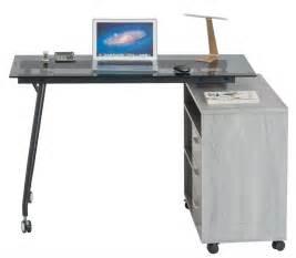 portable desk l l shape black glass portable office desk computer pc