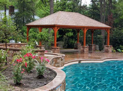 pavilion backyard 17 harmonious pool pavilion plans building plans online