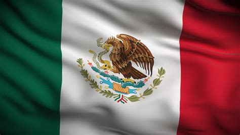 what do the colors of the mexican flag mexican flag stock footage