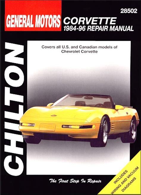 motor repair manual 1996 chevrolet s10 free book repair manuals chevrolet corvette repair manual 1984 1996 chilton 28502