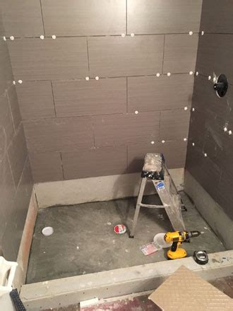 Installing Tile Shower Wood Look Tiles And River Rock Installation In Atlantic