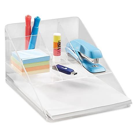 Clear Desk Organizer Buy Interdesign 174 Linus Clear Desk Organizer From Bed Bath Beyond