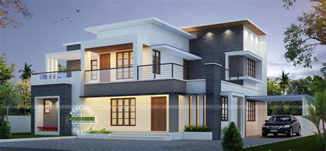 contemporary home plans and designs best contemporary inspired kerala home design plans