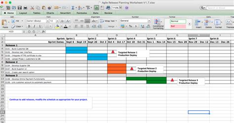 scrum release plan template agile release planning worksheet cortelligence project