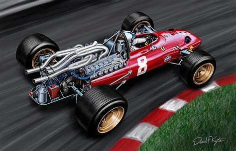 Kaos Formula One F1 51 newest painting high detail painting of chris amon s