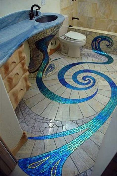 bathroom tile designs glass mosaic the interior design