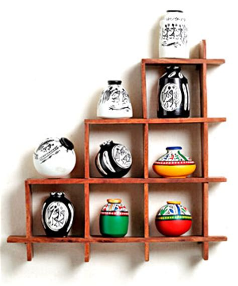 Home Decor Gift Items by Wall Decor With Miniature Pots India