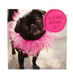 black pug tutu birthday card i love pugs