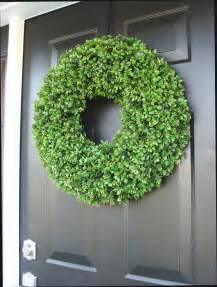Artificial Wreaths For Front Door Year Wreath Front Door Decor Faux Boxwood Wreath