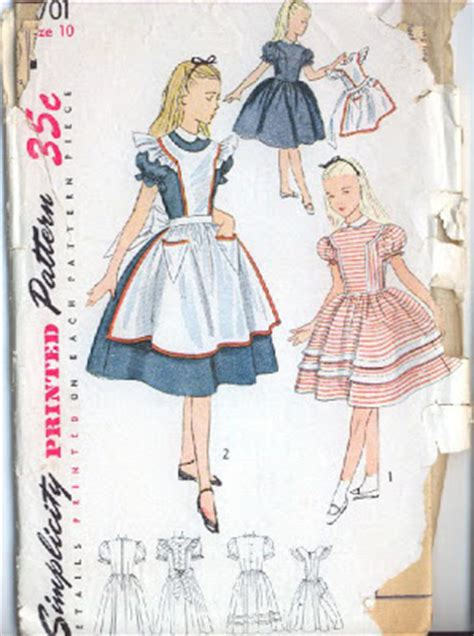 dress pattern alice in wonderland patterns from the past trick or treat vintage halloween