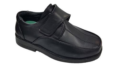 plain black school shoes for bnib childrens boys smart back to school plain black