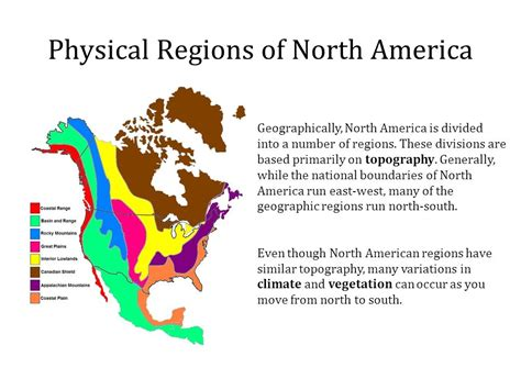 america map geographic regions physical regions of america ppt