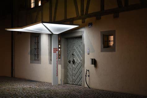 beleuchtung eingang vordach beleuchtung led dekoration bild idee