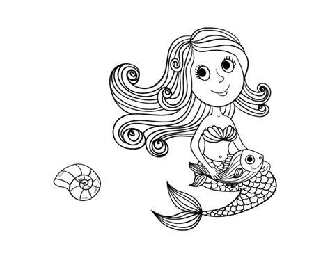 imagenes tumblr png para colorear desenho de sereia e seu peixe para colorir colorir com
