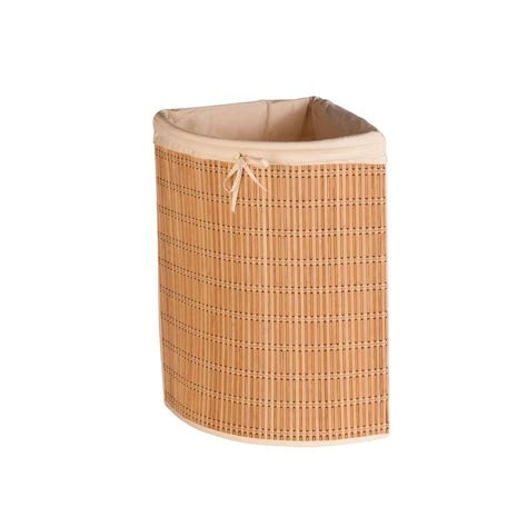 Honey Can Do Bamboo Wicker Corner Laundry Her Hmp 01618 Corner Laundry With Lid