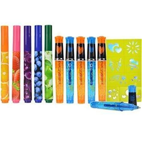 tattoo pen kmart power brand scented markers and glitter tattoo gel pens