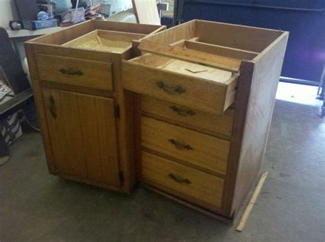 Old Base Cabinets Repurposed To Kitchen Island Base Repurposed Kitchen Island Ideas