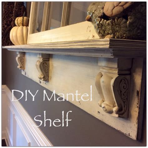 How To Build A Wood Mantel Shelf by Diy Mantel Shelf Simple Southern Charm