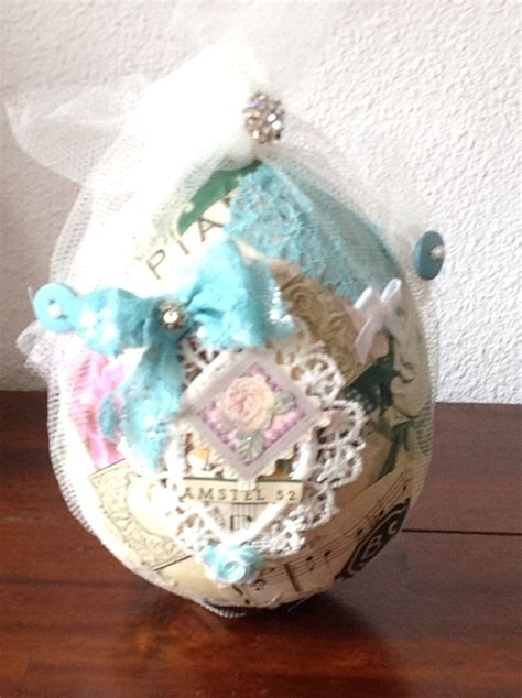 shabby chic easter egg by sab creations shabby chic
