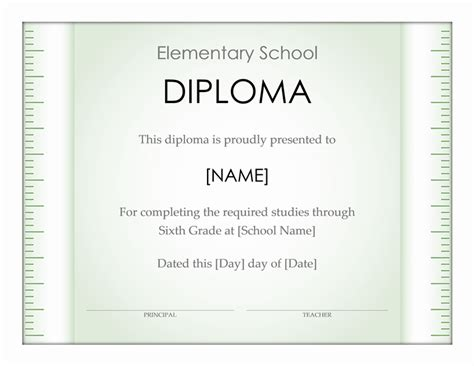 Graduation Office Com Elementary School Graduation Diploma Template