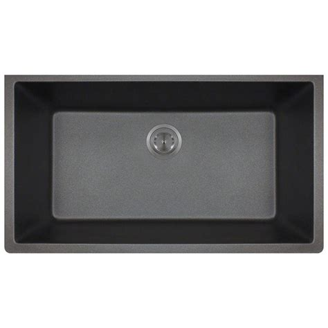 black bowl sink polaris sinks undermount granite 33 in single bowl