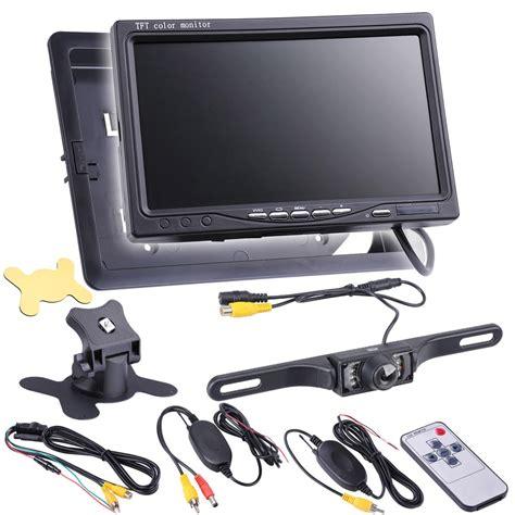 Monitor Lcd Vision Kamera 7 quot tft lcd car rear view backup monitor wireless parking