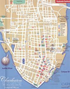 charleston south carolina tourist map charleston south