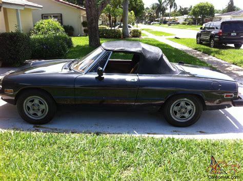 1982 alfa romeo spider 1982 alfa romeo spider veloce convertible 2 door 2 0l
