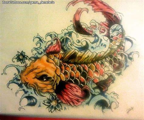 tattoo pez koi naranja dise 241 o de koi peces orientales tatoo