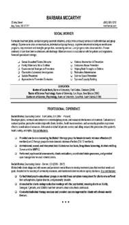 social worker resume 4 social work social workers resume and search