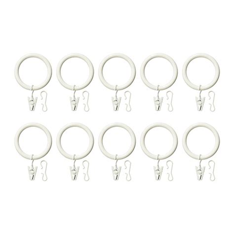 ikea curtain rings syrlig curtain ring with clip and hook white ikea