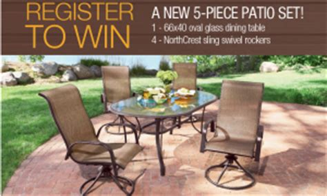 Albertsons Patio Set by Shopko Patio Set Giveaway Sweepstakes Win A 5