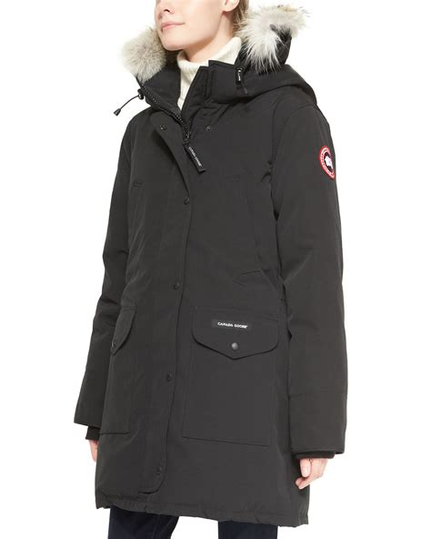 Parka Black 1 canada goose trillium furhood parka jacket in black lyst
