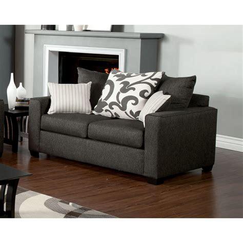 charcoal grey sofa and loveseat venetian worldwide colebrook charcoal gray loveseat w