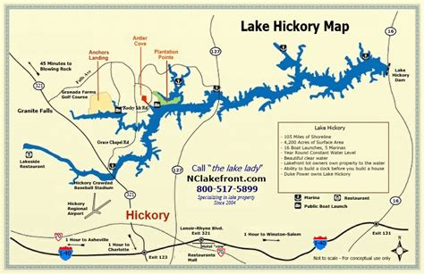 map of hickory nc lake hickory granite falls carolina lake info