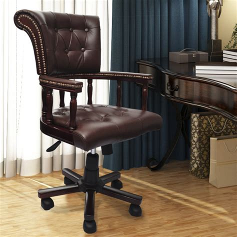 chesterfield captains swivel chair chesterfield captains swivel office chair brown www