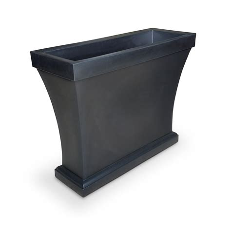 Black Plastic Trough Planters by Plastec 10 In X 12 In Hexagon Black Wall Planter Set Of