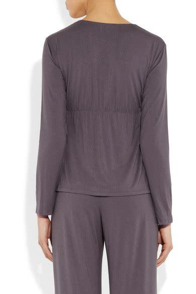 designer shop eberjey at net a porter net eberjey godiva stretch modal pajama top net a