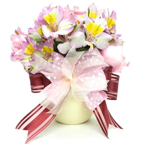 mother s day bouquet mother s day gift flower bouquet with bow bowdabra blog
