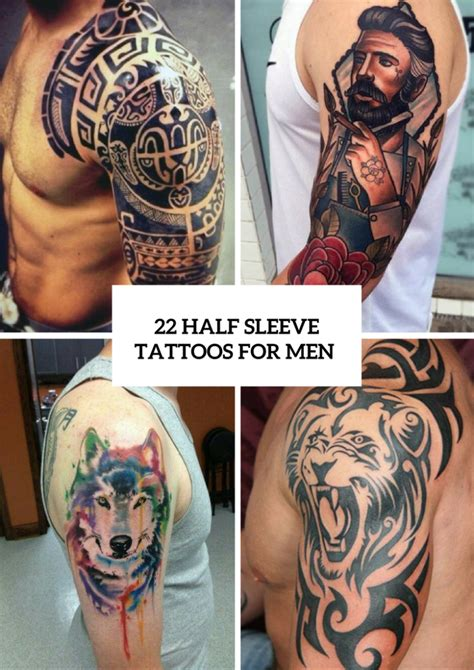 quarter sleeve tattoos for men cool tattoos archives styleoholic