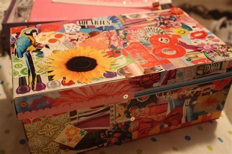 Decoupage Shoebox - magazine collage shoe box decoupage