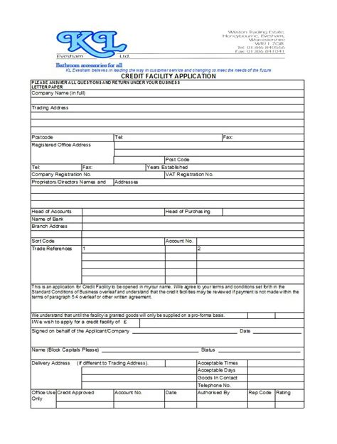 Credit Application Form Template Microsoft 40 Free Credit Application Form Templates Sles