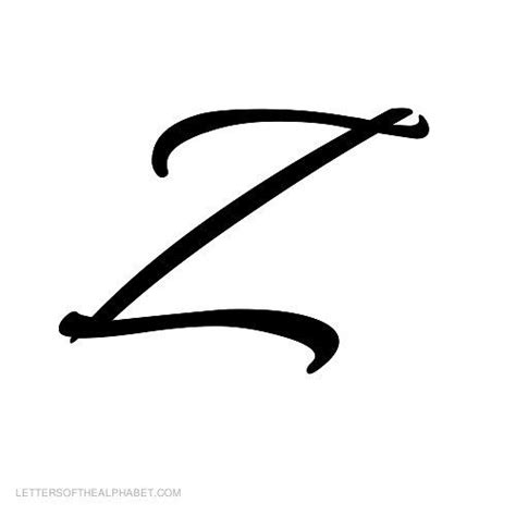 letter z tattoo designs alphabet letters black cursive z with a small next to