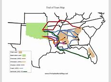 trail of tears blank map