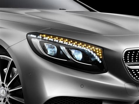 mercedes headlights mercedes s class coupe headlights have swarovski crystals