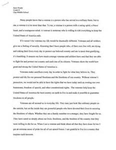 Essay About Veterans is this a essay on veterans day 191 words